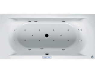 RIHO Lima whirlpool bad 200x90cm met verlichting electronisch links Wit glans 4/4/2jets SW17291