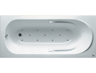 RIHO Future whirlpool bad 180x80cm pneumatisch links Wit glans SW17435
