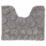 sealskin pebbles toiletmat 60x50cm cotton grijs