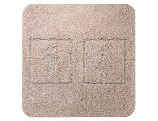 Sealskin Man and Woman Tapis de bidet 100 60x60cm coton toile de lin CO292686866