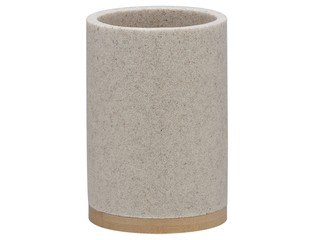 Sealskin Grace beker 7.3x10.6x7.3cm vrijstaand rond Polyresin with Bamboo Zand SW71642