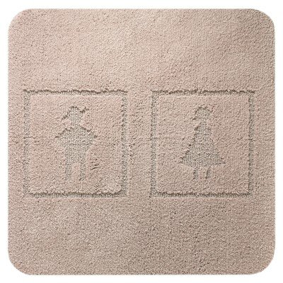 Sealskin Man and Woman Tapis de bidet 100 60x60cm coton toile de lin