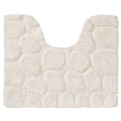 Sealskin pebbles toiletmat 60x50cm cotton ivoor