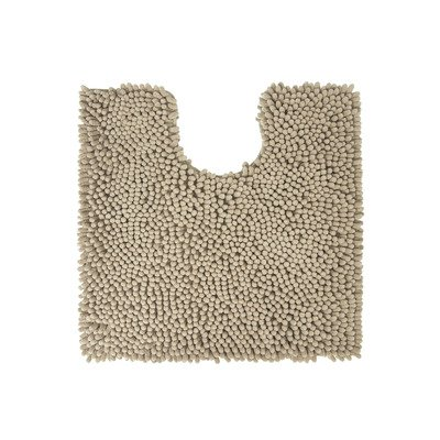 Differnz Chenille Shaggy Wc mat 60x60 Taupe