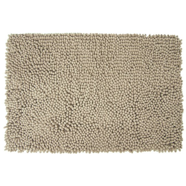 Differnz Chenille Shaggy Badmat 60x90 Taupe SW71538
