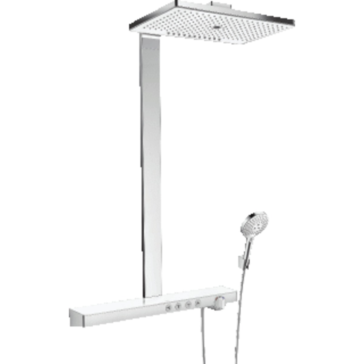 hansgrohe rainmaker select 420 2jet showerpipe met showertablet select 700 opbouw douchekraan. Black Bedroom Furniture Sets. Home Design Ideas