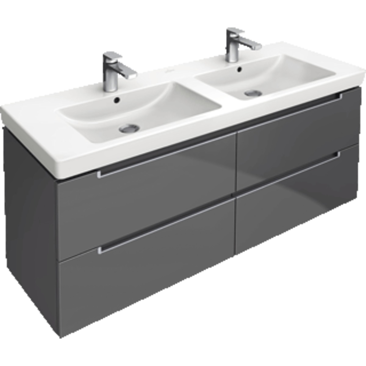 villeroy boch subway 2 0 meuble sous lavabo 128 7x44 9x52cm gris a69900fp. Black Bedroom Furniture Sets. Home Design Ideas
