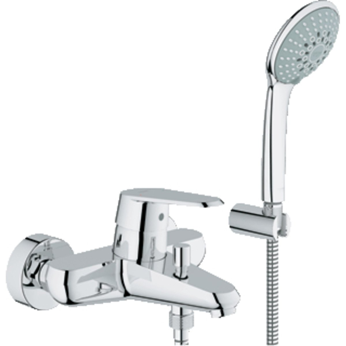 grohe eurodisc cosmopolitan mitigeur de bain avec inverseur et connexion 46mm avec garniture. Black Bedroom Furniture Sets. Home Design Ideas