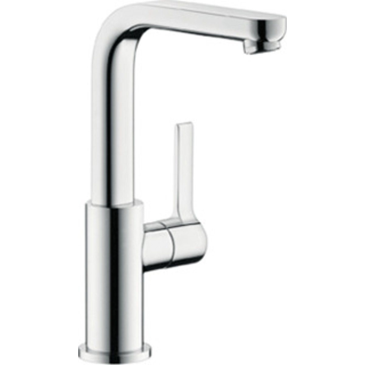 hansgrohe metris s robinet pour lavabo avec bec tournant rehauss avec bonde clic clac chrome. Black Bedroom Furniture Sets. Home Design Ideas