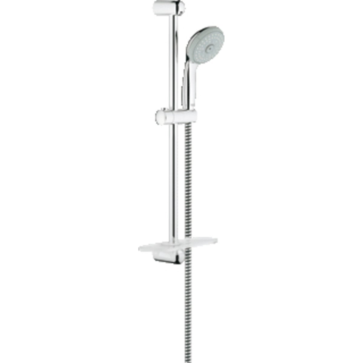 grohe tempesta ensemble de douche 60cm avec 4 jets et porte savon chrome 28436001. Black Bedroom Furniture Sets. Home Design Ideas