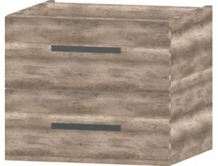 Wavedesign San marino wastafelonderkast 60x45cm canyon oak SW98584