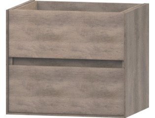 Wavedesign Pescara wastafelonderkast 60x46 cm grey oak SW98517
