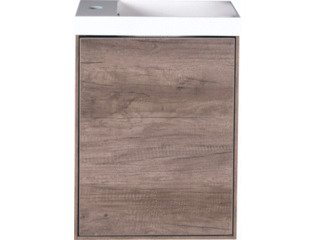 Wavedesign Pescara fonteinonderkast incl.fontein 60x40cm brown oak SW98530