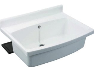 ABU Maxi Uitstortgootsteen B70xD50cm Kunststof Wit OUTLET OUT5468