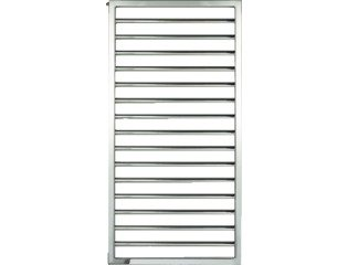 Zehnder Subway Radiator (decor) H183.7xD3xL45cm 486W Staal Chroom SW126661