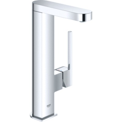 Grohe Plus 1-gats wastafelkraan L-size m. gladde body m. push open waste m. uittrekbare uitloop chroom 23844003