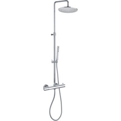 Paffoni Light Douchecombinatie set H126.5cm diameter: 22.5cm 70cm Chroom