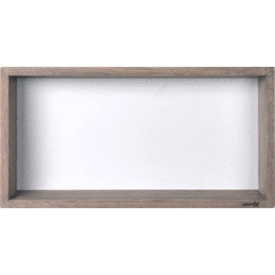 Looox Wooden collection wand box 60x30cm met achterplaat wit eiken mat wit