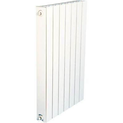 DRL Oscar Radiator (decor) H124.6xD9.3xL56cm 1519W Aluminium Wit