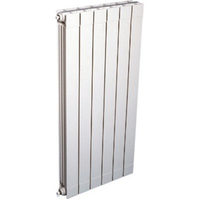 DRL Oscar Radiator (decor) H144.6xD9.3xL80cm 2440W Aluminium Wit