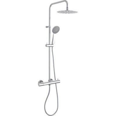 Paffoni Light Douchecombinatie set H124cm diameter: 22.5cm 110cm Chroom