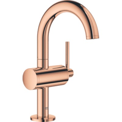 Grohe Atrio 1-gats wastafelkraan M-size m. push open warm sunset