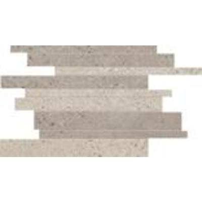 Abk Imoker Downtown Decor-strip 30x40cm 9mm vorstbestendig gerectificeerd Ecru/Earth Mat