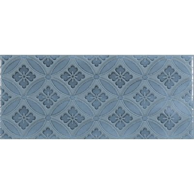 Roca Maiolica Frise pour carrelage 11x25cm 7mm Blue Steel brillant