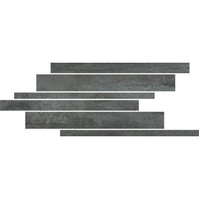 Floorgres Rawtech Decor-strip 21x40cm 10mm vorstbestendig gerectificeerd Coal Mat