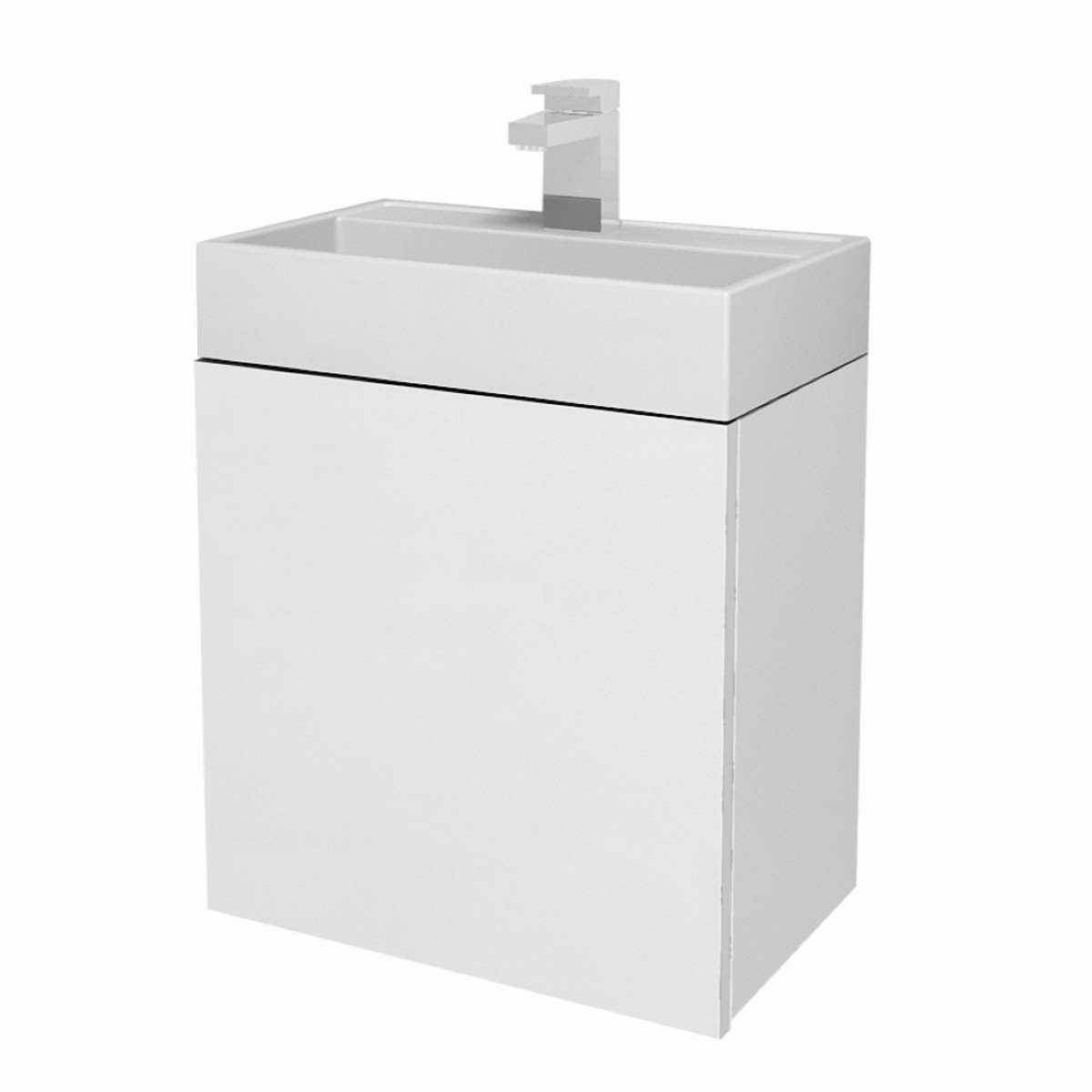 Tiger Items Meuble Sous Lavabo Wc 40cm Blanc Brillant 592710141