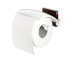 Tiger Zenna toiletrolhouder met klep chroom wenge CO351638346