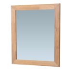 saniclass natural wood miroir standard 59x70x1.8cm rectangulaire sans lumiere