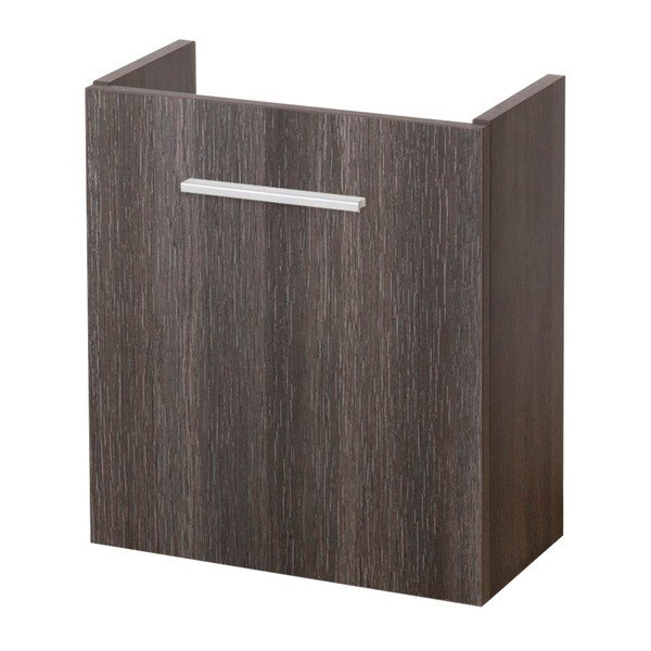 Saniclass Florence fonteinkast rechts met softclose 40x45x21.5cm Legno Antracite 1061