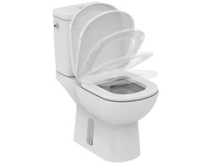 Ideal Standard Kheops WC Pack zonder spoelrand 66.5x36.5 cm toiletzitting met softclose wit SW71261