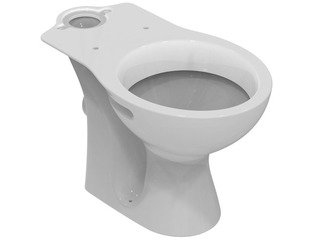 Ideal Standard Simplicity wc cuvette uitgang H porselein wit exclusief jachtbak/zitting SW69687