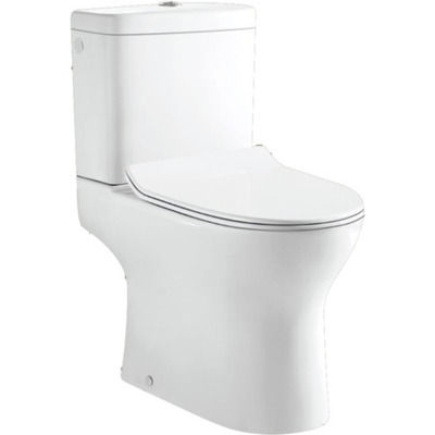 Nemo Go Gustav PACK staand toilet S uitgang 22.5 cm reservoir met Geberit mechanisme 36 L porselein wit met dunne softclose en takeoff zitting SHOWROOMMODEL