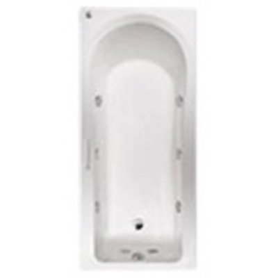 Ideal Standard Aqua hygiëne Plus 170x75 cm hydro massage systeem 8 flat jets wit