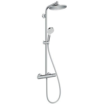 Hansgrohe Crometta S 240 Showerpipe avec robinet thermostatique 1 jet chrome