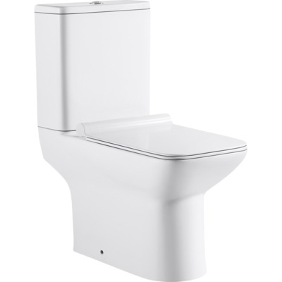 Nemo Go Ike PACK staand toilet H(PK) uitgang 18 cm jachtbak met Geberit mechanism 36 L vierkant porselein wit met dunne softclose en takeoff zitting