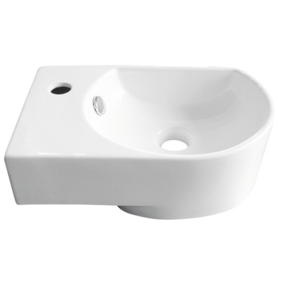 Nemo Go Flexy handenwasser links 41x27x14,2 cm porselein wit 1 kraangat