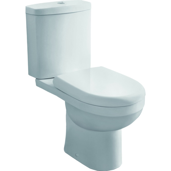 Nemo Go Riele PACK staand toilet S (AO) uitgang 780 x 635 x 375 mm porselein wit met dunne softclose