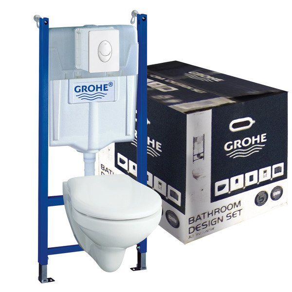 Grohe solido trend pack wc suspendu 39114000 for Wc trend