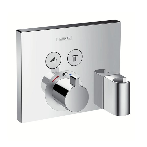 hansgrohe showerselect set de finition pour robinet de douche thermostatique encastrable 2 voies. Black Bedroom Furniture Sets. Home Design Ideas